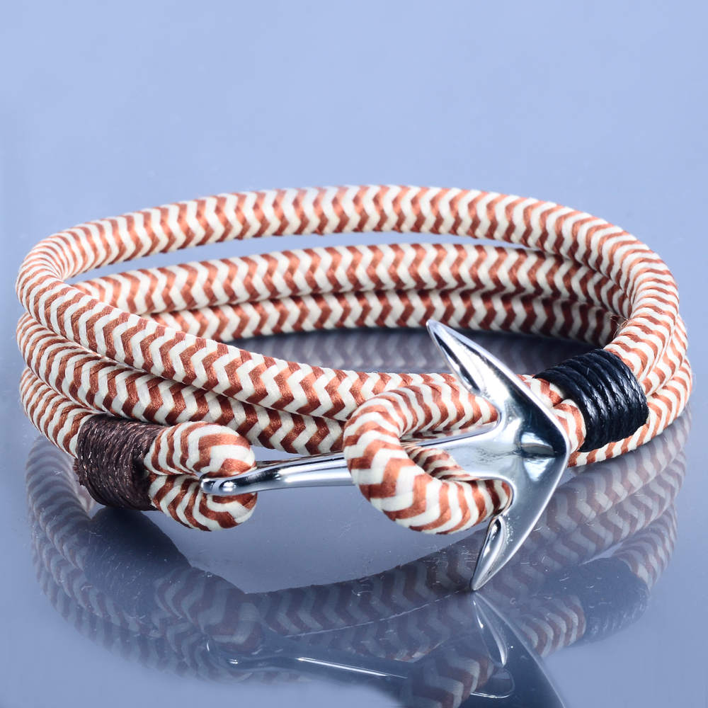Latest Custom Braided Bracelet With Stainless Steel Fish Hook