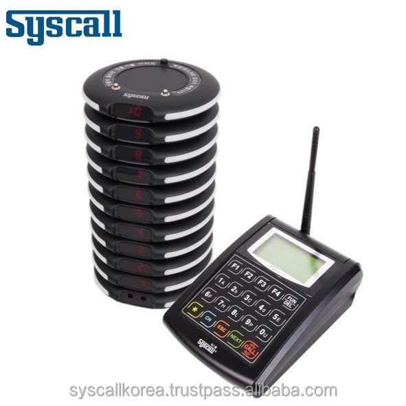 syscall Wireless coaster pager Restaurant guest paging system