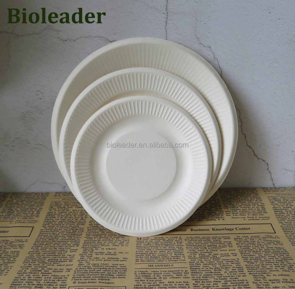 Compostable Cheap Bagasse Paper Dinner Plates