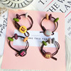 Cute grind arenaceous beads M beans hair rope hair bands