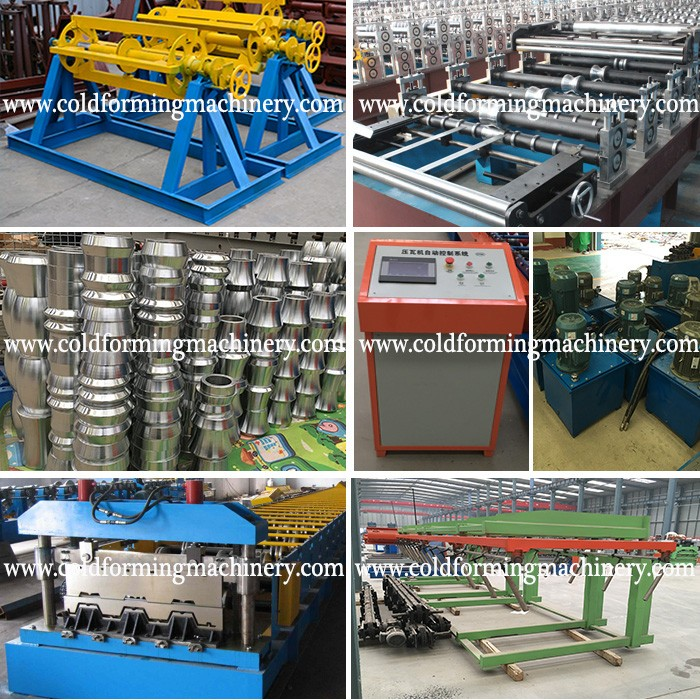 Color Steel Deck Floor Roll Forming Machinery and Roll Forming Machine for Flooring Decker