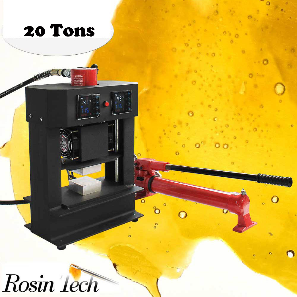 Dual Heating Elements 20 Tons Power Hydraulic Rosin Press