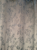NEW ARRIVAL small leaf 100% Polyester Linen Like Jacquard Curtain fabric