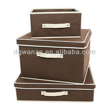 Home storage organization collapsible fabric storage boxes with lids