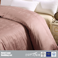 100% Bamboo Fiber Hotel Bedding Duvet Cover Set wholesale Custom Jacquard Design Quilt