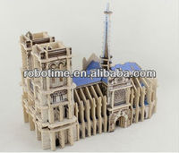 2014 New 3D DIY Edecational World Famous building model puzzle Notre Dame de Paris
