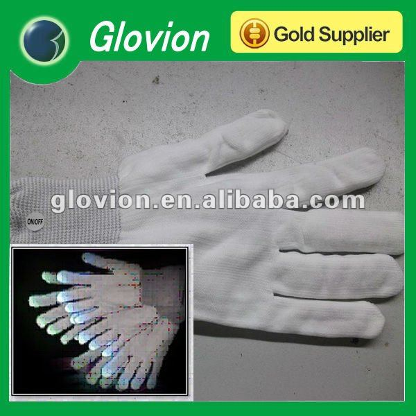 LED Light Up Rave Glove Glow Light Glow Finger Gloves party Flashing Glow Gloves for birthday party