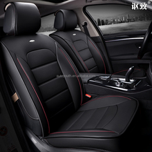 Four Season Black Genuine Leather Car Seat Cover