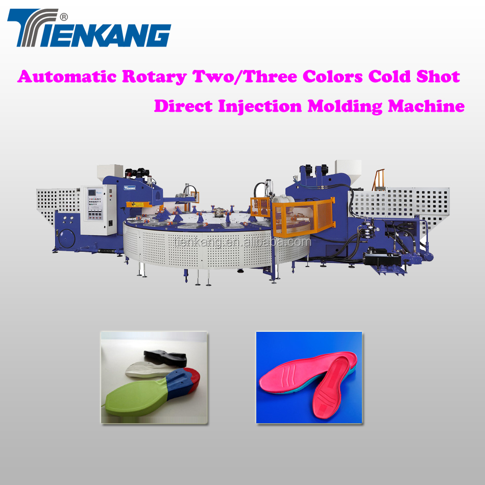 Automatic Rotary Multi-Color Cold Shot Direct Injection Molding Machine (16 stations)