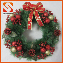 SJ-L6149 Cheap Plastic christmas wreath decorating door garland