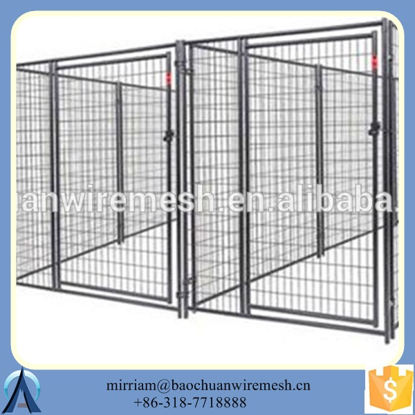 fully assembled Welded mesh wire dog kennel