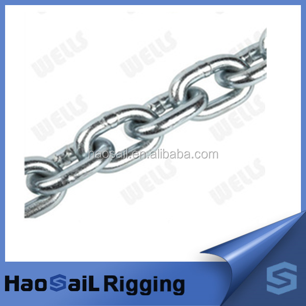 English Standard Galvanized Ordinary Mild Steel long Link Chain