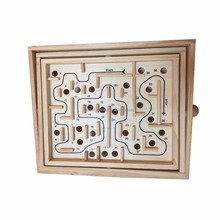 High Quality Kids Labyrinth Toys Educational Game YZ6048 Wooden Maze Game for Children Wooden Wood Toy