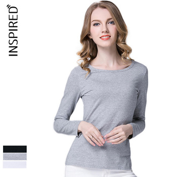 High quality Fashions Blank Long Sleeve T-shirts for Lady