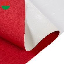 Custom Your Logo Waterproof Red Color Fabric Leather For Furniture