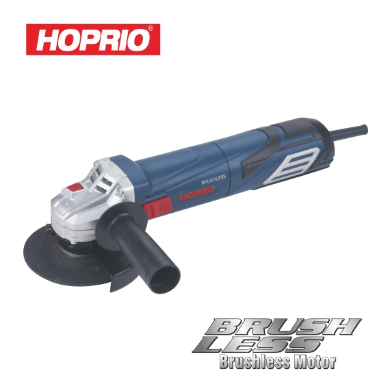 HOPRIO Industry Firt high quality 1250W 100mm variable speed AC brushless motor angle grinder