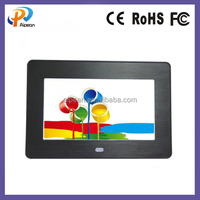 metal 7 Inch TFT LCD Wide Screen Digital 2000 Photos Display Frame with Calendar Support Tf Sd /Usb Flash Drives - Support