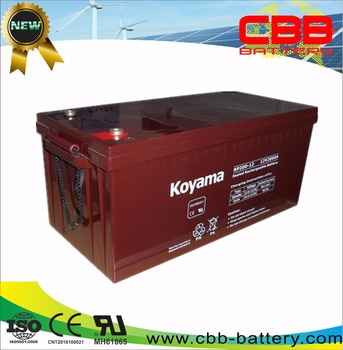12V 200ah lead acid storage battery ups backup battery NP200-12