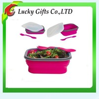 Portable Silicone Food Storage Container Collapsible Lunch Box