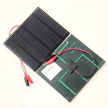 BUHESHUI 3.5W 18V Polycrystalline Mini Solar Panel+Crocodile Clip Solar Cells Module For 12V Battery Charger Solar Kits135*165MM