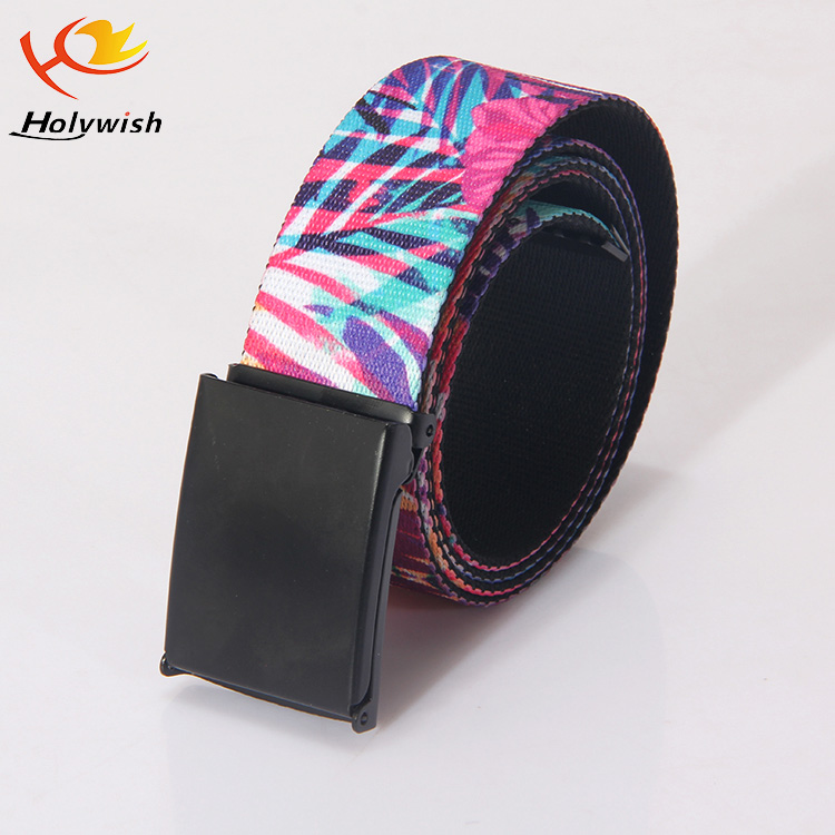 Custom Fashion polyester fabric sublimation logo belts