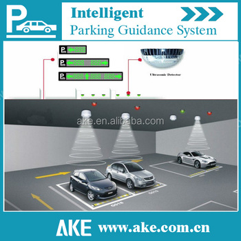 Vehicle car park guidance system with Real-time_dynamic availability information of parking spaces