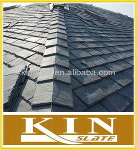 own quarry natural black grey slate roofing made in china