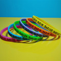 Noctilucent silicon wrist bands, Luminous silicone bracelets, customized silicone wristbands glow in the dark