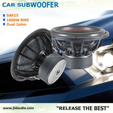 Popular in USA 1000W RMS 15inch SPL car audio subwoofer