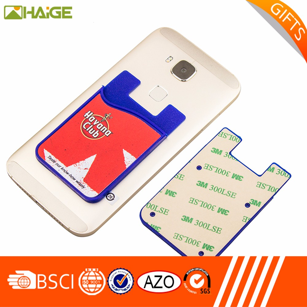Silicone Smart Card Holder Sticky Phone Case Card Wallet