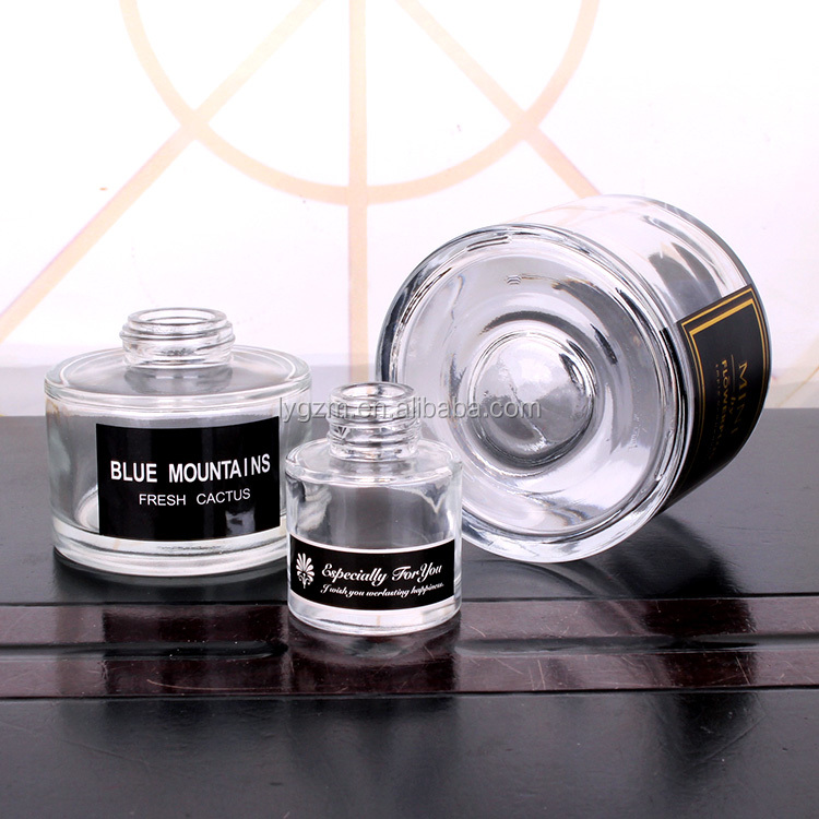 50ml 160ml 500ml cylinder shaped glass bottle for aroma reed diffuser