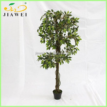 cheap decorative artificial ficus wooden tree house