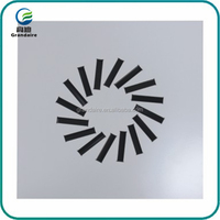 Adjustable Steel Air Conditioning Exhaust Swirl Air Diffuser with 16blades in HVAC System