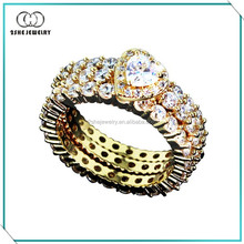 High Quality Fashion lover rings silver
