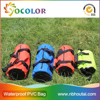 2015 hot sale 500D PVC tarpaulin red inflatable Water Resistant Canoe Boating Camping Waterproof Dry Bag for boating