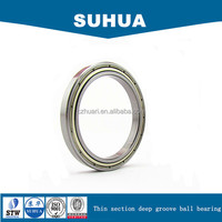 Single row thin section deep groove ball bearing 6905ZZ