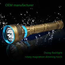 HOT Wholesale High Quality Waterproof IP68 Diving LED Flashlight 7 8 9 CREE XML T6 L2 8000 Lumen LED Diving Flashlight Torch