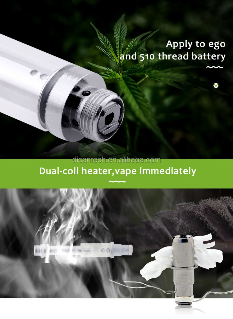 O Pen Vape 2.0 Voltage Adjustable Bud Touch Battery 510 Glass Tank Atomizer Vape Metal Cartridge 1ml/1.6mm Thick Oil Vaporizer