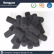 Reticulated Polyurethane cylinder Foam Air Filter Foam Fuel & Air Filters Eco-friendly Open Cell Black Colors Filter sponge