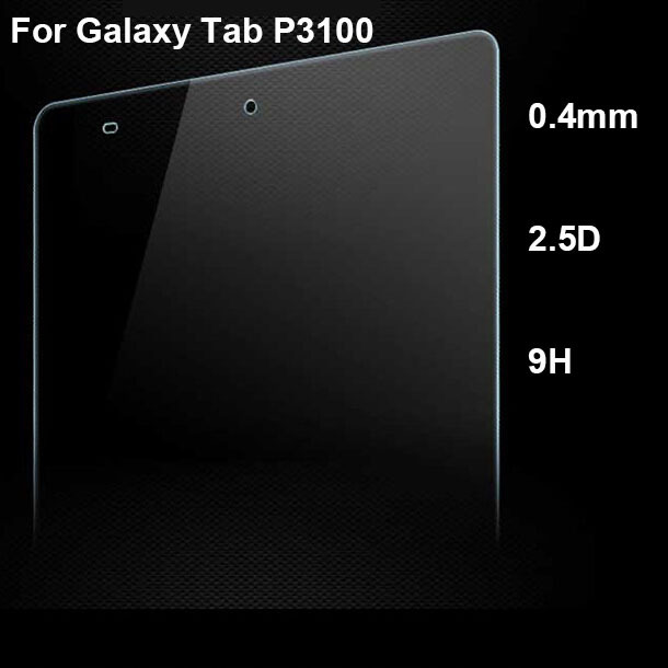 0.4mm 2.5D 9H Tab P3100 Tempered Glass Film Screen Protector For Samsung Galaxy Tab P3100 Glass Screen Guard with retail box
