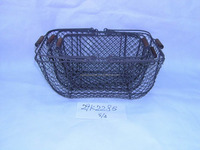 wire egg basket with wooden handle