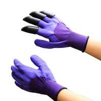 China supply safety garden gloves latex with ABS finger protector in right hand