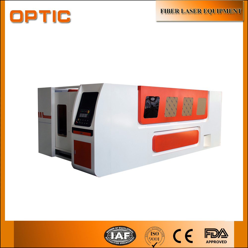 Sticker printing equipment new cast iron tech fiber laser cutting machine with cover