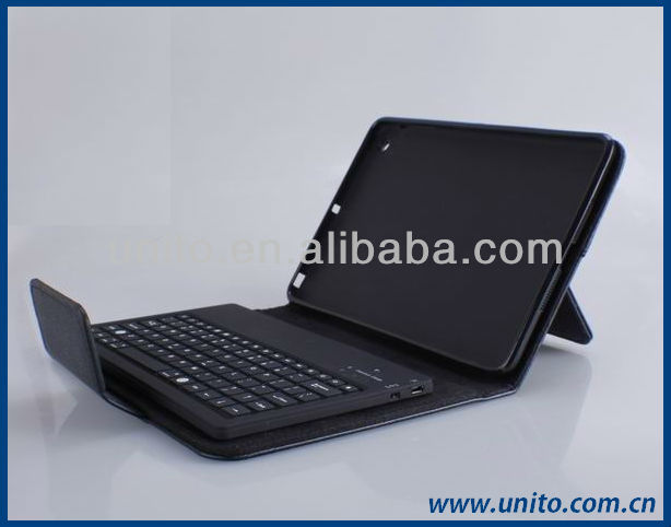 stand leather case with wireles Bluetooth Keyboard for ipad mini