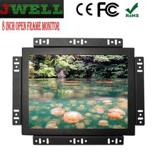 8 inch 800*600 resolution general resistive touch screen monitor open frame LCD monitor with AV+VGA