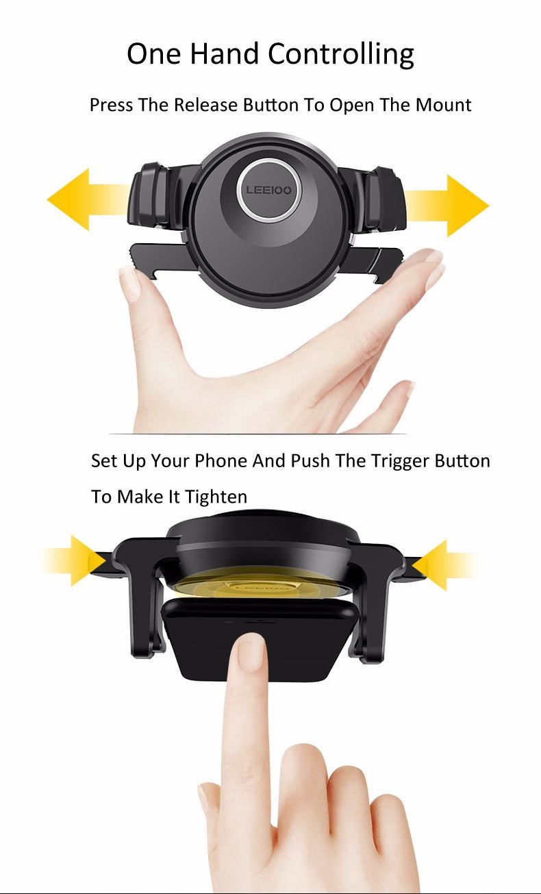Vesany 360 Graus Rotating Air Vent Car Mount Holder Telefone