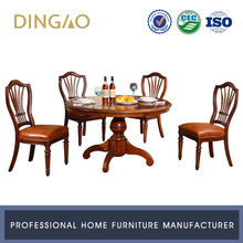 Dining Room Round Wooden Table With 8 Chairs Set Solid Wood 8 Seater Round Dining Table Set #X201S