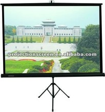 4:3 matte white tripod projection screen with self-lock system