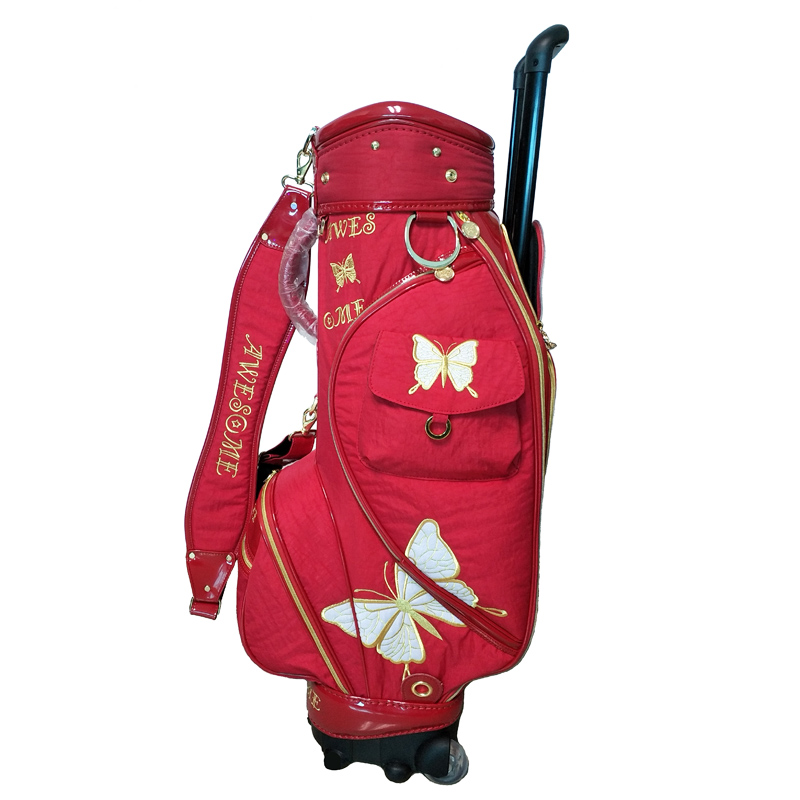 Women Golf Club Bag With Wheels Golf Trolley Bag