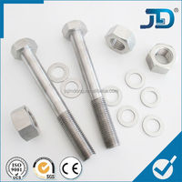 black/galvanized steel bolt & nut washer